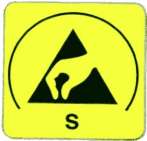 Etiqueta material antiestático Distronica